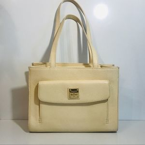 Dooney and Bourke Cream Pebble Grain Shoulder Bag